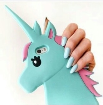 phone cover unicorn blue