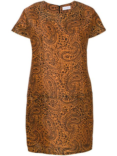 Christian Wijnants dress print dress women print yellow orange paisley