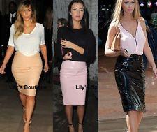 Bn women pu skirt nude/pink pvc lucy pvc sold out vinyl skirt sz8