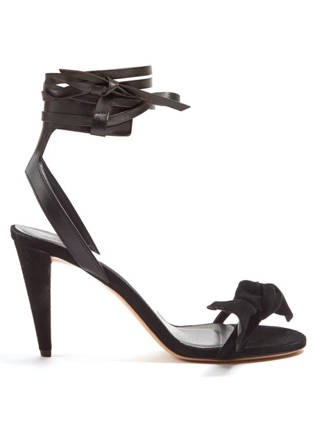 Isabel Marant sandals leather suede black shoes