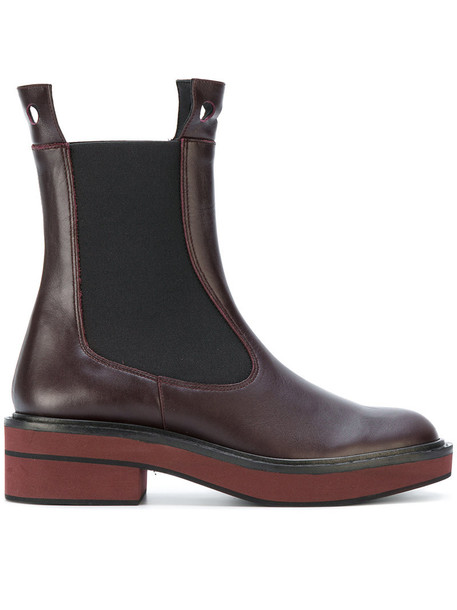 PALOMA BARCELÒ women chelsea boots leather red shoes