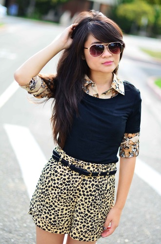 daily disguise blouse shirt shorts shoes