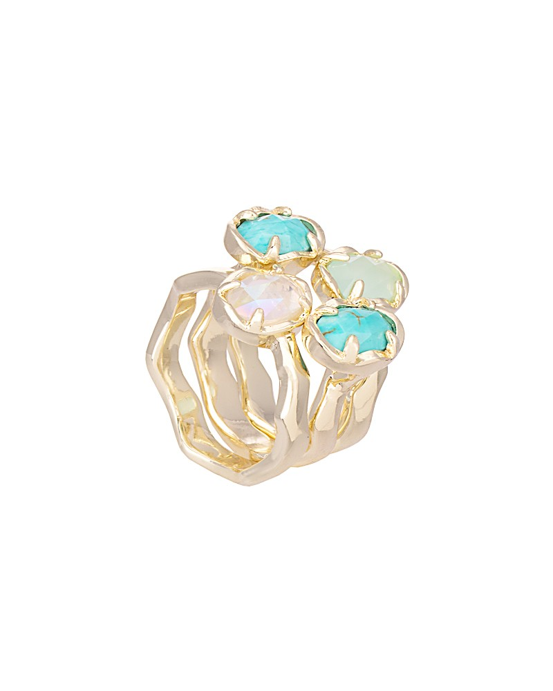 Brady Stackable Rings in Blue Marine - Kendra Scott Jewelry