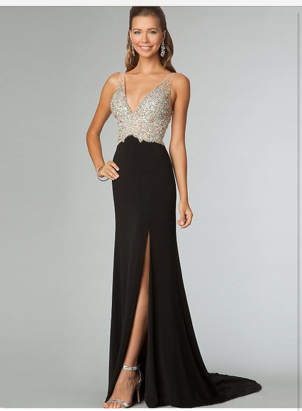 dress fashion prom dress prom dress 2014 black black prom dress
