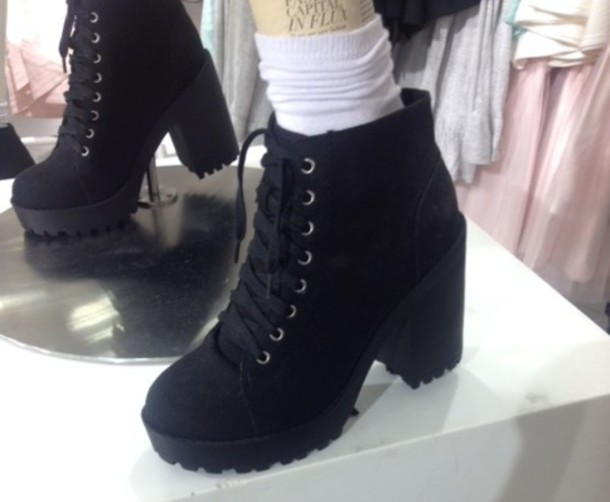 760ebea4b17 heels high heels h and m canvas canvas shoes lace up black and white autumn  2014