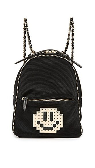 metal baby backpack black bag