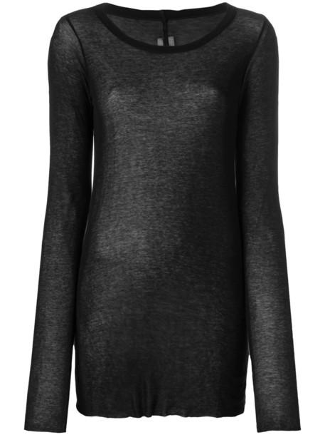 Rick Owens t-shirt shirt t-shirt long women cotton black top