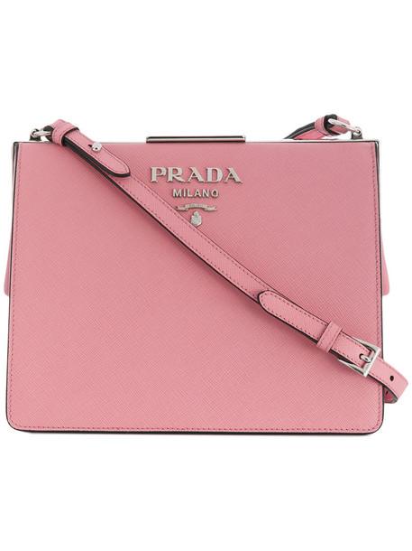 Prada women light bag shoulder bag leather purple pink
