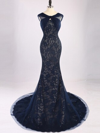 dress prom prom dress mermaid prom dress mermaid dark dark navy navy backless maxi maxi dress long long dress lace dress lace tulle dress fashion dressofgirl style trendy