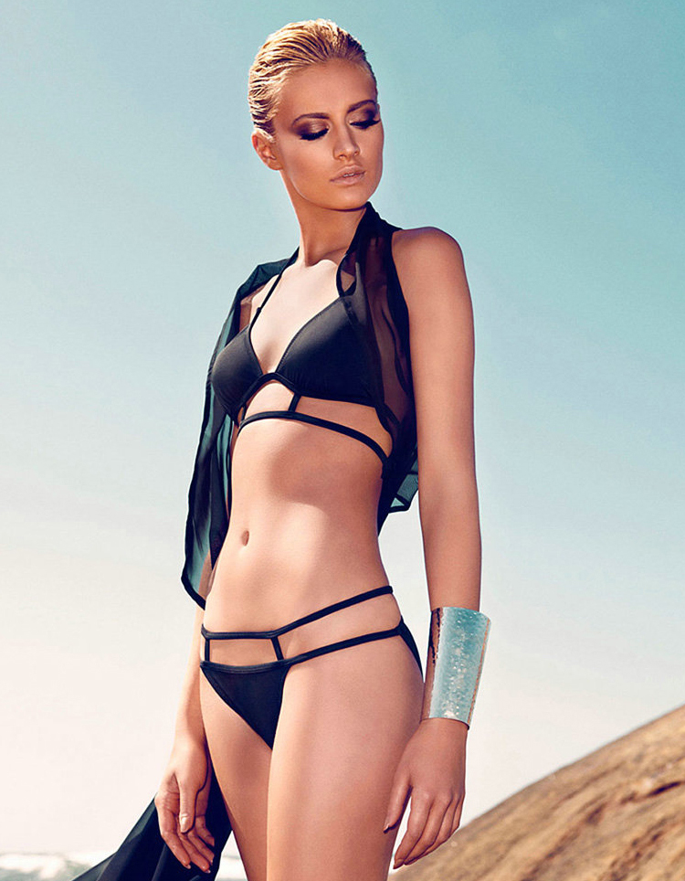 Black Swimsuit - Bqueen Cut Out Bikini With | UsTrendy
