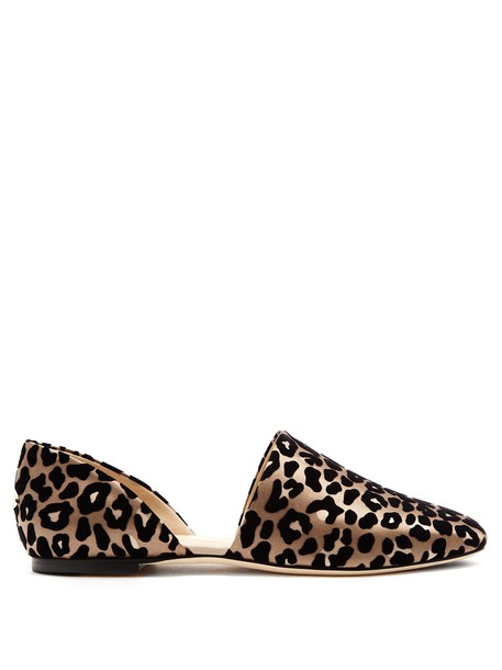 Jimmy Choo flats print satin shoes