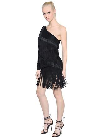 dress jersey dress black