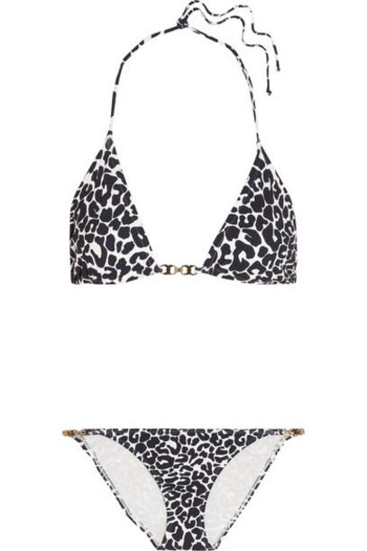 bikini triangle bikini triangle navy print swimwear