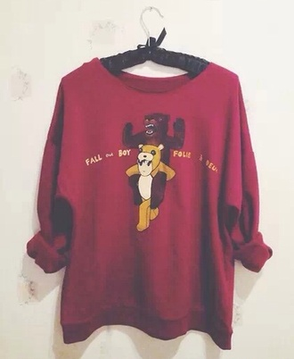 sweater fall out boy folie a deux red