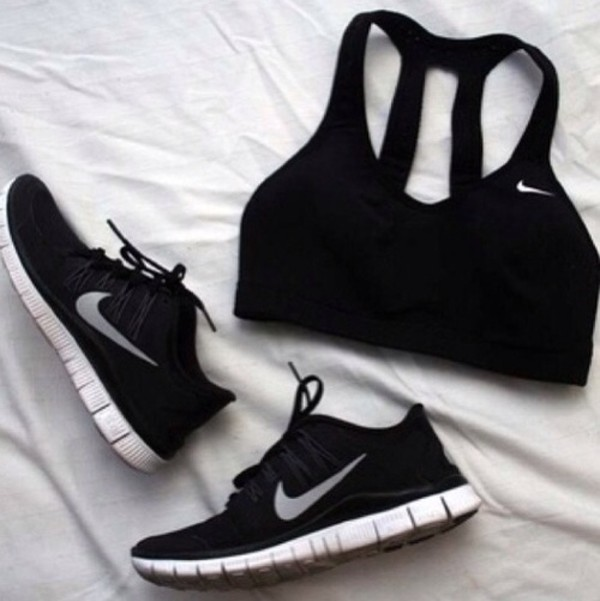 shoes black nike tank top nike sportswear