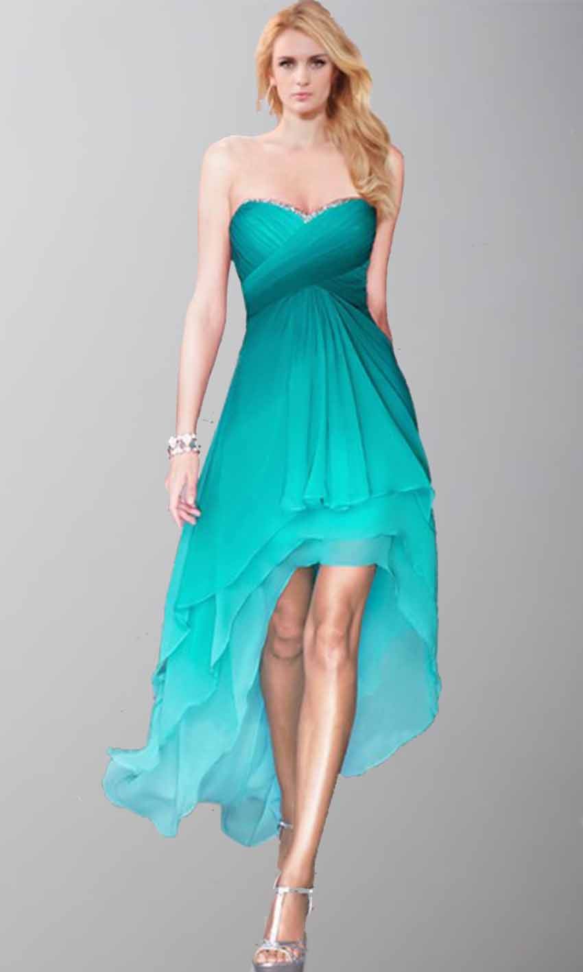 Pretty Sweetheart Ombre High Low Prom Party Dresses KSP412 [KSP412 ...