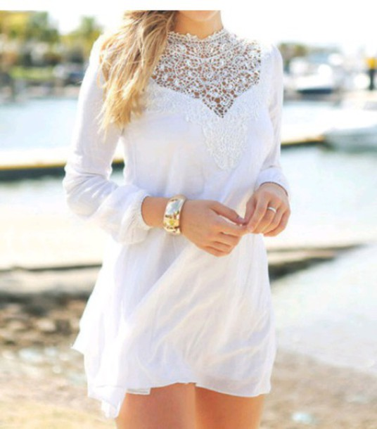 dress lace dress white dress white lace dress girly girl girly wishlist
