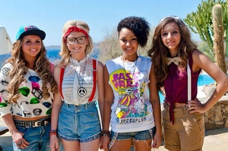t-shirt pants shorts sweater little mix perrie edwards jade thirlwall leigh-anne pinnock jewels