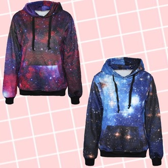 galaxy hoodie multi colored