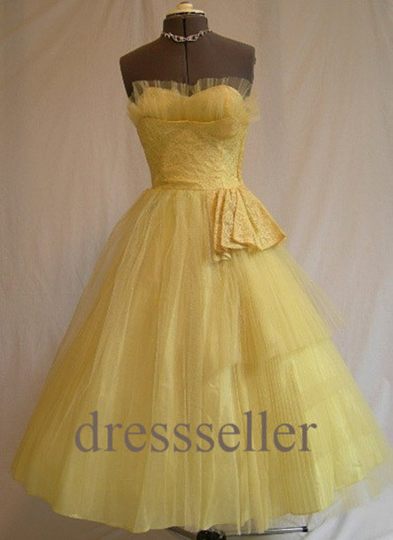 Yellow Bridal Party Dresses 51
