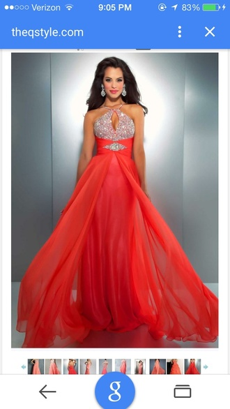 dress prom dress prom orange sparkly