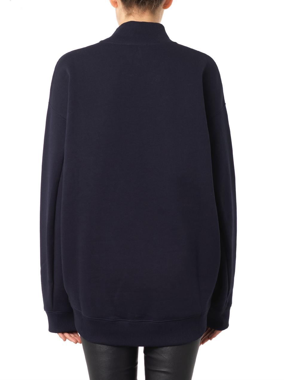 Beta flocked-logo sweatshirt | Acne Studios | MATCHESFASHION.COM