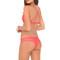 Luli fama brazilian ruched bikini bottom - coral