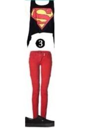 shirt,superman,superwoman,black,tank top,tummy shirt