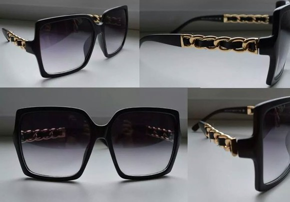 oversized sunglasses black shades platted