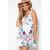 Women's V Neck Back Bowknot Design Print Chiffon Dress - $15.05