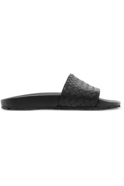 Bottega Veneta leather black shoes