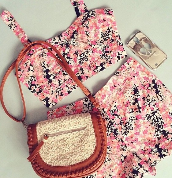 floral spring summer swimwear bag beach