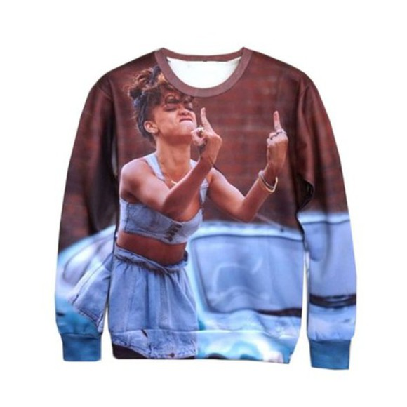 rihanna rihanna style 3d sweatshirts