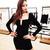 Long Sleeve Plunge V Neck Bandage Dress Black