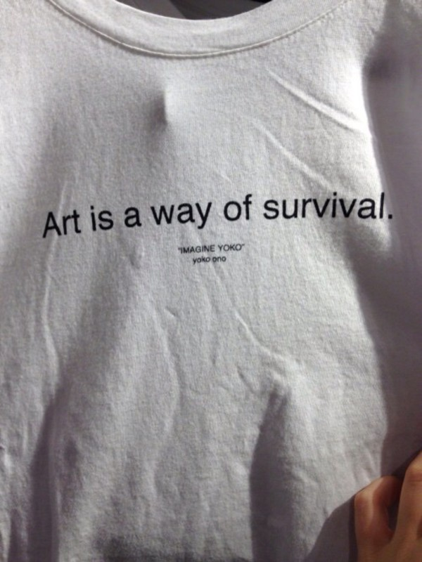 Art Is Survival Quote Hipster Tumblr Teen Shirt