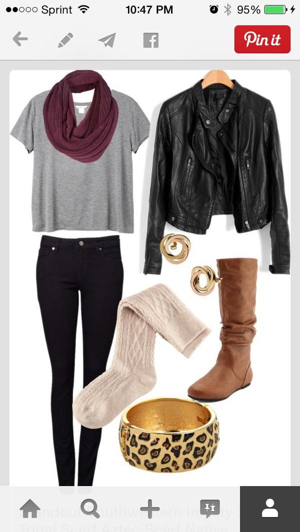 scarf scard & shirt