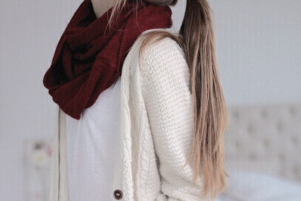 cardigan top nice scarf
