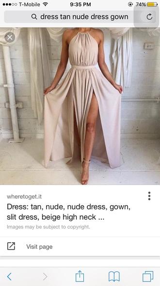 dress tan nude nude dress prom dress tan dress