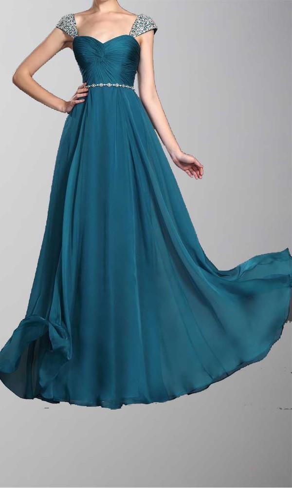 prom dress long prom dress formal dress cap sleeve dress sequin dress dress peacock dress