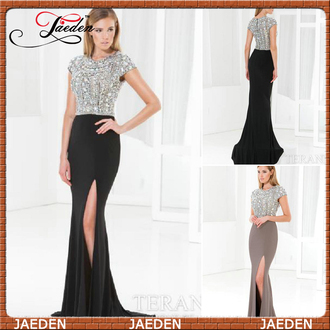 crystal prom dress black evening dresses