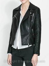 jacket,leather,pu leather,leather jacket,black,black leather jacket,black leather,quilted,quilted leather jacket,biker jacket,motorcycle jacket