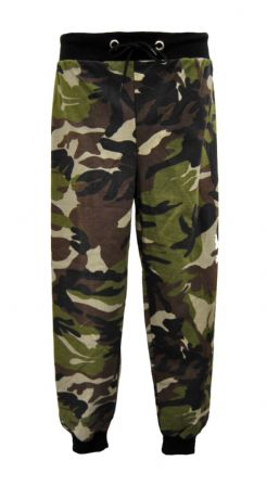 Ladies Khaki Camouflage Army Style Sweat Pants