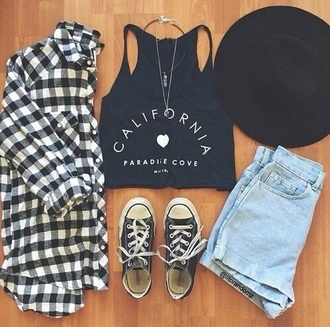 top cali westside flannel all stars cute california top crop tops shoes shorts shirt california tumblr outfit