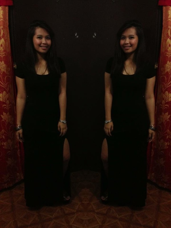 dress slit forever 21 primadonna black