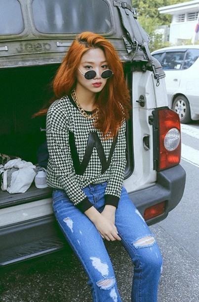 t-shirt black sunglasses t-shirt asian korean fashion havepp kai
