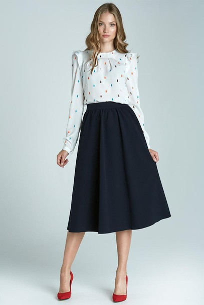 Shirt: molly dress, 28719, office outfits, classy, midi skirt ...
