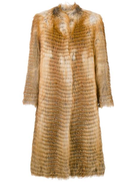 Liska coat fur coat long fur coat long fur fox women brown