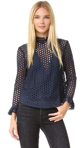 top lace top lace navy