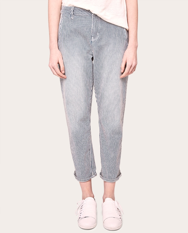 Jeans boyfit droit cropped off white alice comptoir des cotonniers - Jeans comptoir des cotonniers ...