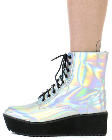 Hologram platform lace